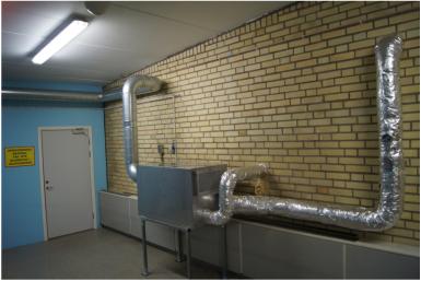 Avfuktare, typ CR600, installerad i ett vattenverk